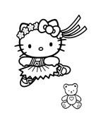 Hello kitty da colorare 138