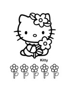 Hello kitty da colorare 139