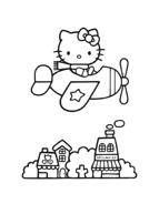 Hello kitty da colorare 142