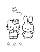 Hello kitty da colorare 143
