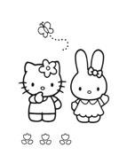 Hello kitty da colorare 143