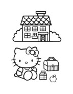 Hello kitty da colorare 144