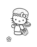 Hello kitty da colorare 146