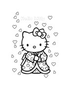 Hello kitty da colorare 147