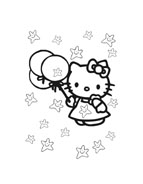 Hello kitty da colorare 148