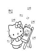 Hello kitty da colorare 149