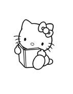 Hello kitty da colorare 153