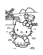 Hello kitty da colorare 156
