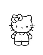 Hello kitty da colorare 157