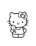 Hello kitty da colorare 158