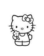 Hello kitty da colorare 158