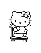 Hello kitty da colorare 159