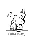 Hello kitty da colorare 160
