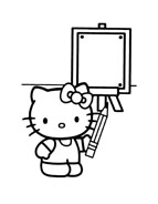 Hello kitty da colorare 161