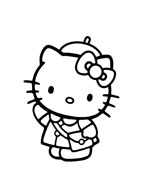 Hello kitty da colorare 163