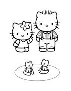 Hello kitty da colorare 164