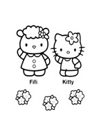 Hello kitty da colorare 165