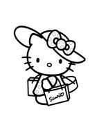 Hello kitty da colorare 166