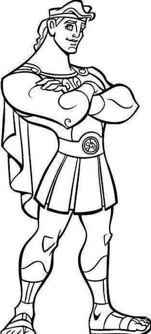 Hercules da colorare 2