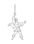Hercules da colorare 27