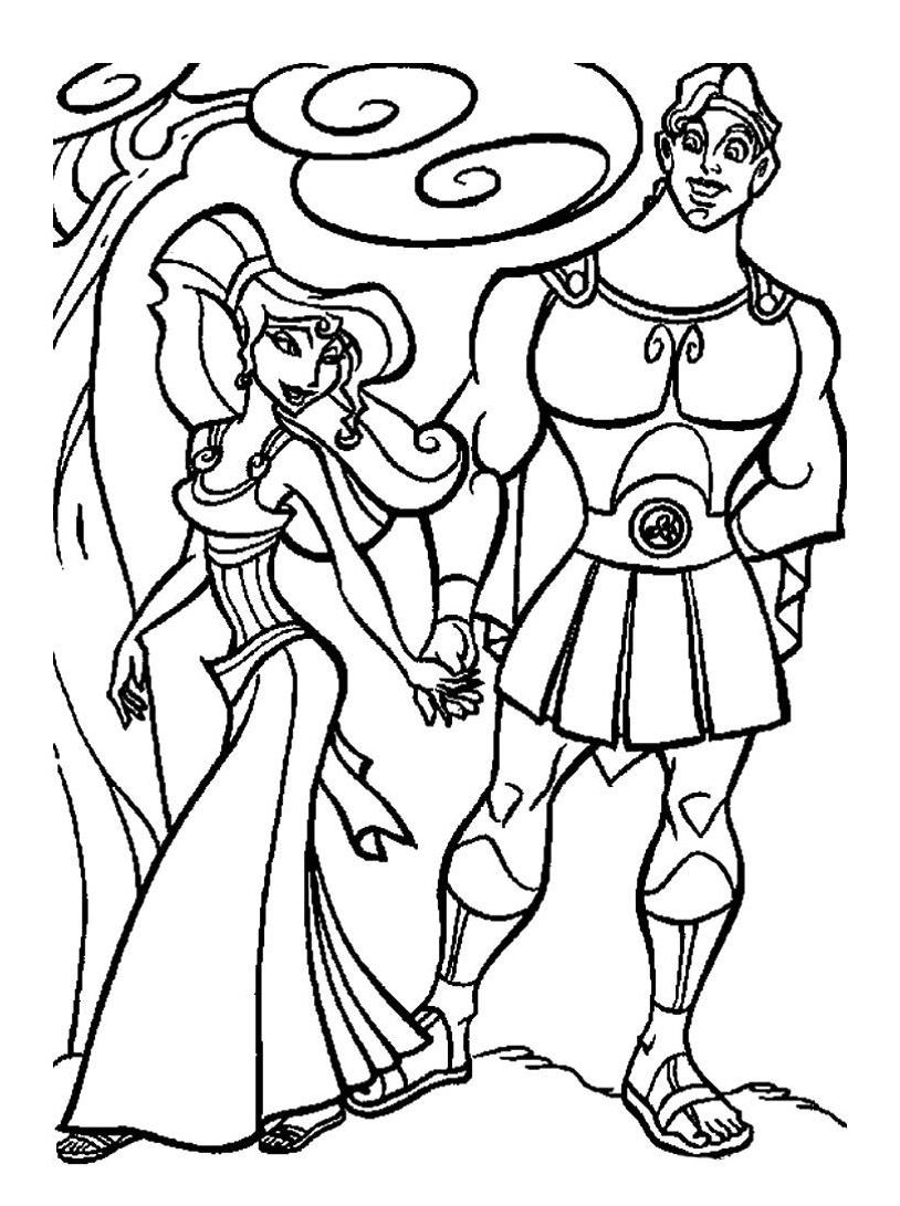 Hercules da colorare 56