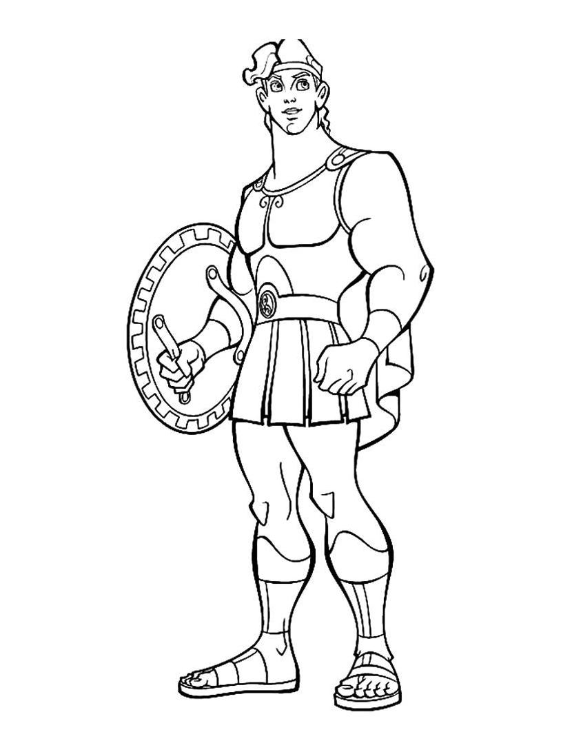 Hercules da colorare 68
