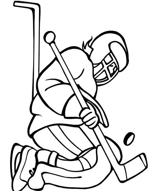 Hockey da colorare 36