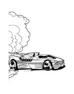 Hot wheels da colorare 76