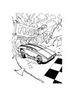 Hot wheels da colorare 87