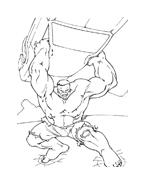 Hulk da colorare 6