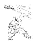 Hulk da colorare 166