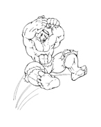 Hulk da colorare 167
