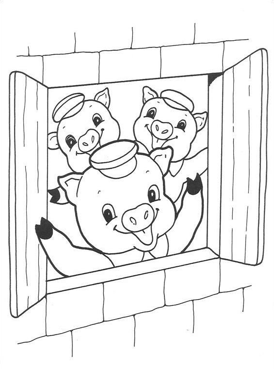 Tre porcellini da colorare 16