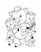 I tre porcellini da colorare 17