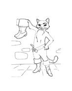 Gatto con gli stivali da colorare 39