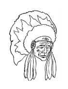 Indiani da colorare 47