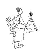 Indiani da colorare 61