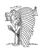 Indiani da colorare 74