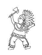 Indiani da colorare 32
