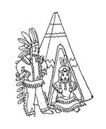 Indiani da colorare 39