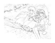 Inuyasha da colorare 8