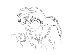 Inuyasha da colorare 12