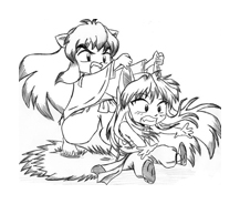 Inuyasha da colorare 17