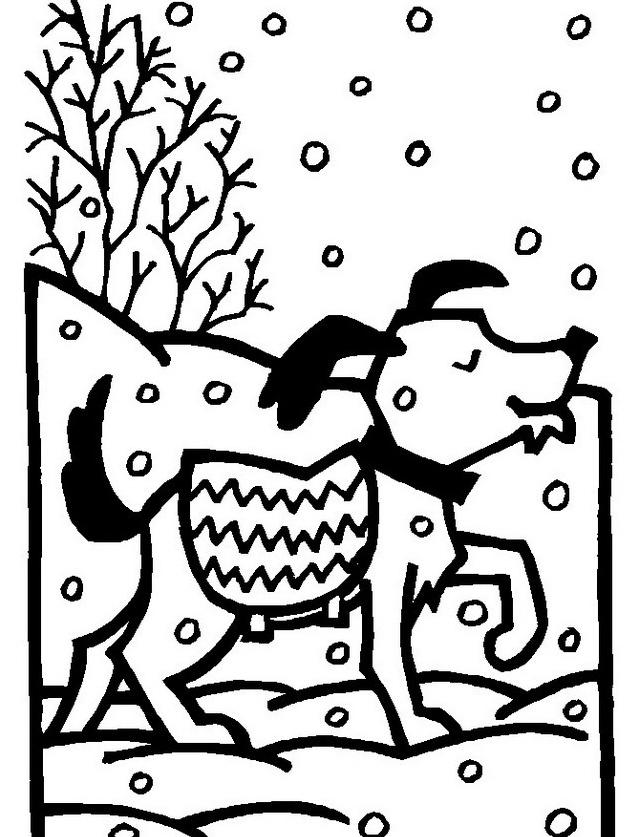 Inverno da colorare 16