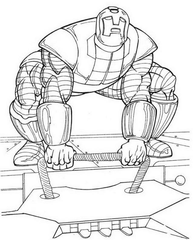 Iron man da colorare 2