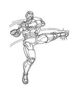 Iron man da colorare 4