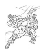 Iron man da colorare 5