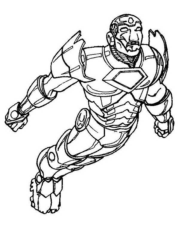 Iron man da colorare 6