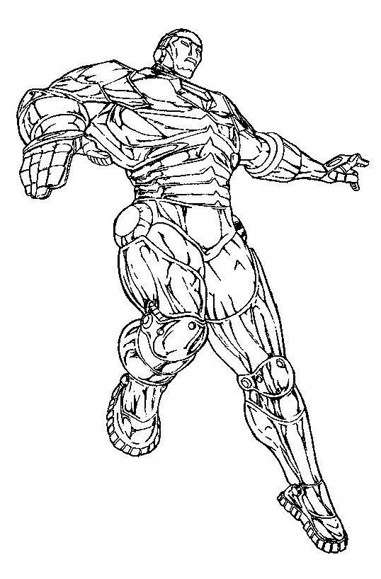 Iron man da colorare 7