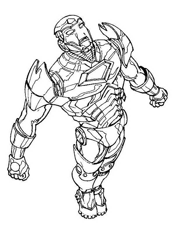 Iron man da colorare 8